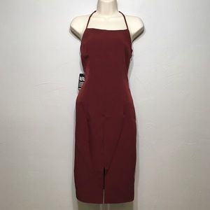 NWT Express Red Formal Party Strap Dress